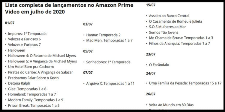 Amazon Prime assistir